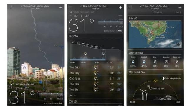 Tổng hợp những ứng dụng dự báo thời tiết hiện nay cho Android và iOS - Ảnh 2.