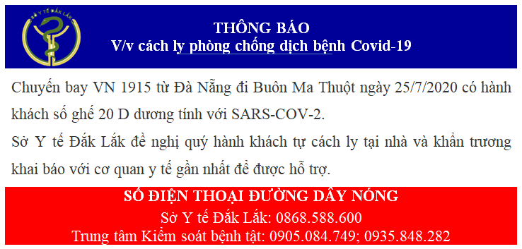 Đắk Lắk truy tìm khách trên chuyến bay có người mắc COVID -19 - Ảnh 1.