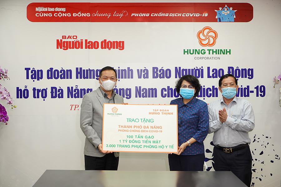 Tập đoàn Hưng Thịnh tiếp sức TP Đà Nẵng và tỉnh Quảng Nam phòng chống dịch COVID-19 - Ảnh 1.