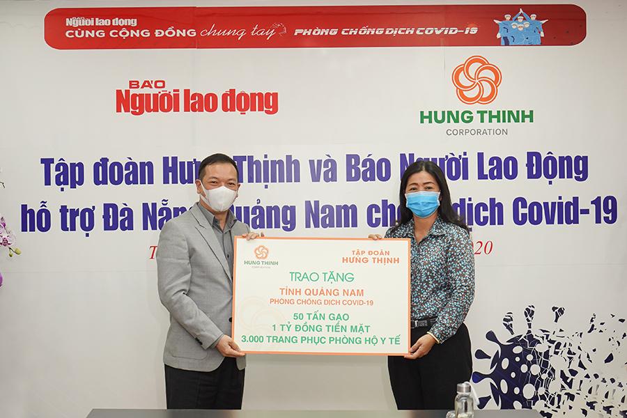 Tập đoàn Hưng Thịnh tiếp sức TP Đà Nẵng và tỉnh Quảng Nam phòng chống dịch COVID-19 - Ảnh 2.