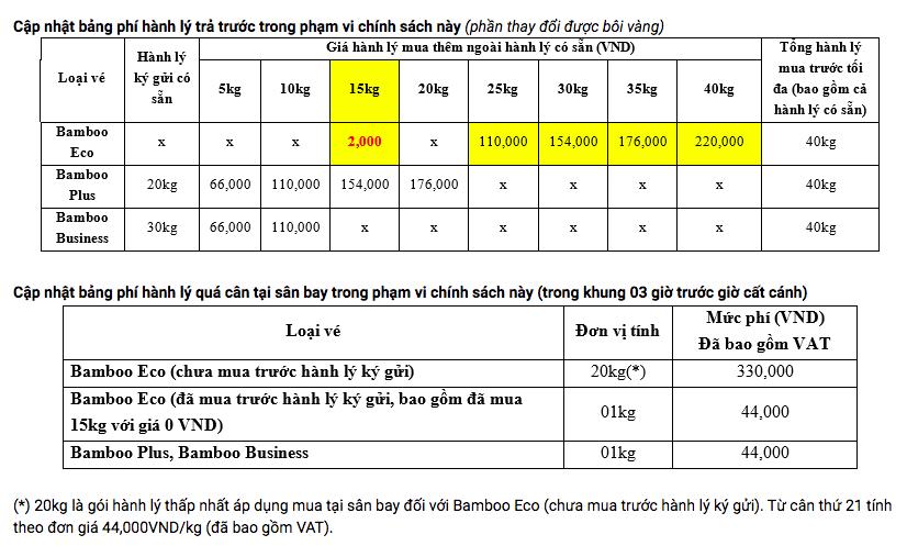 VietJet Air, Bamboo Airways ưu đãi khách hàng 15 kg hành lí kí gửi cho chặng bay nội địa  - Ảnh 3.