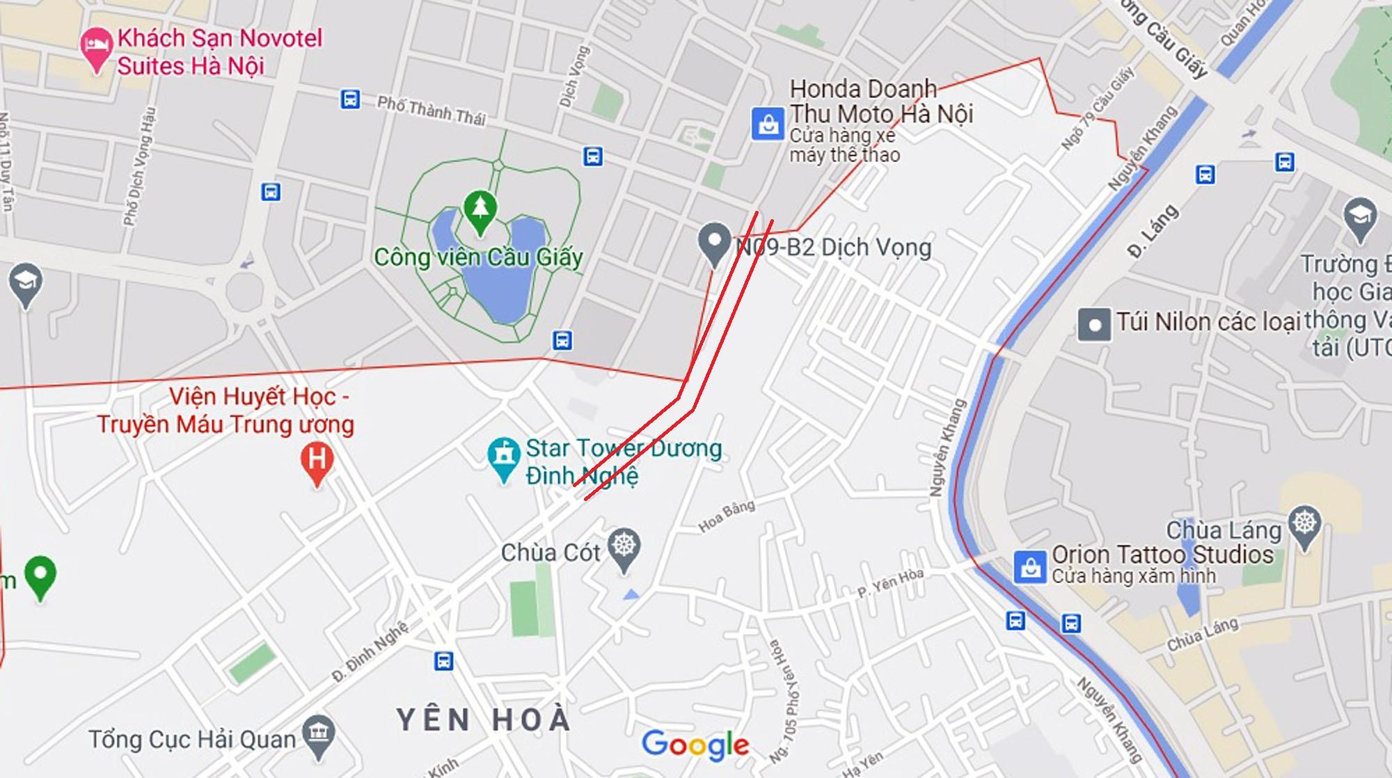 đường sẽ mở theo qui hoạch ở phường Yên Hòa, Cầu Giấy, Hà Nội - Ảnh 2.