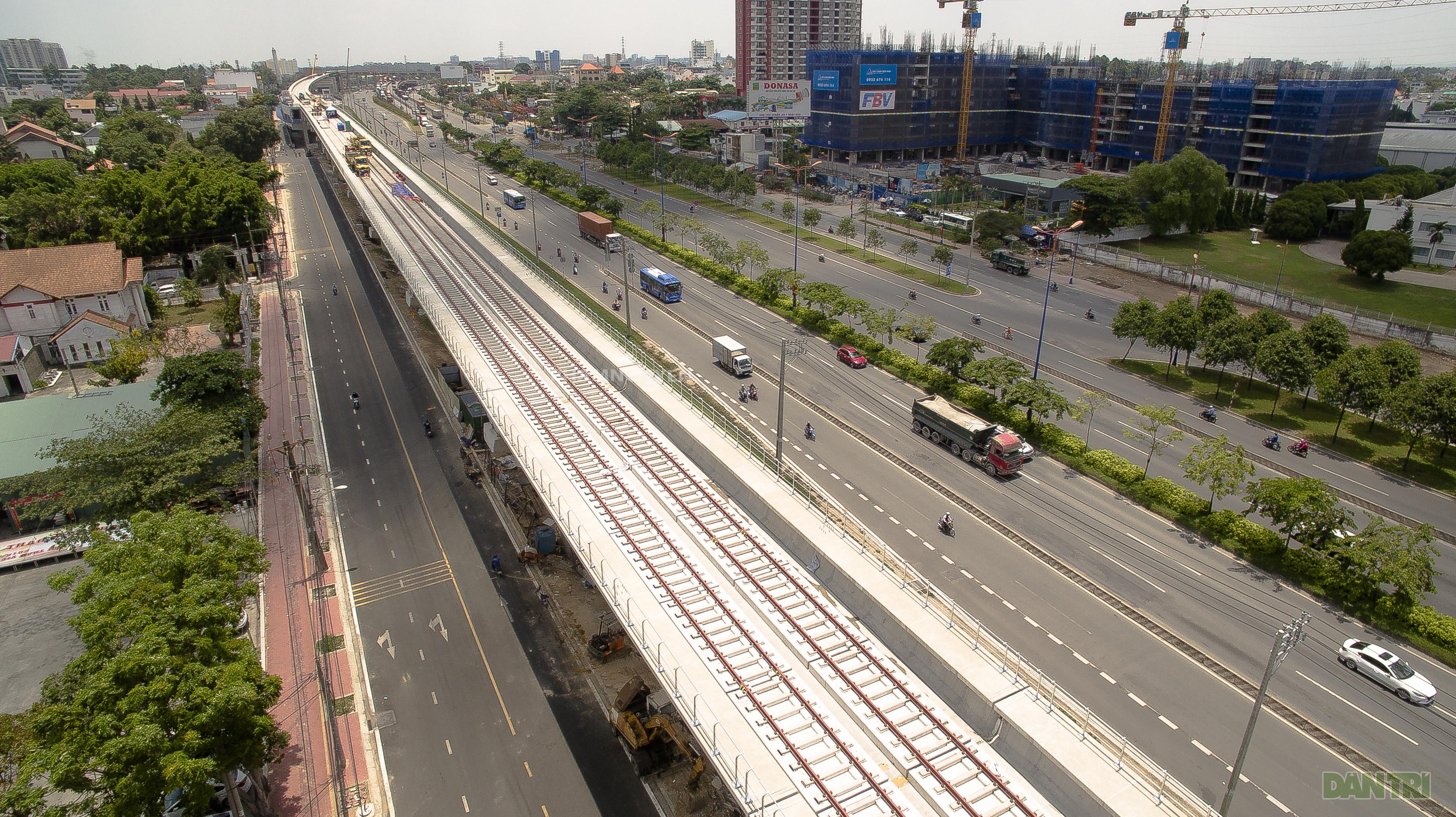 Toàn cảnh tuyến metro đầu tiên của TP HCM. (Ảnh: Dân trí).