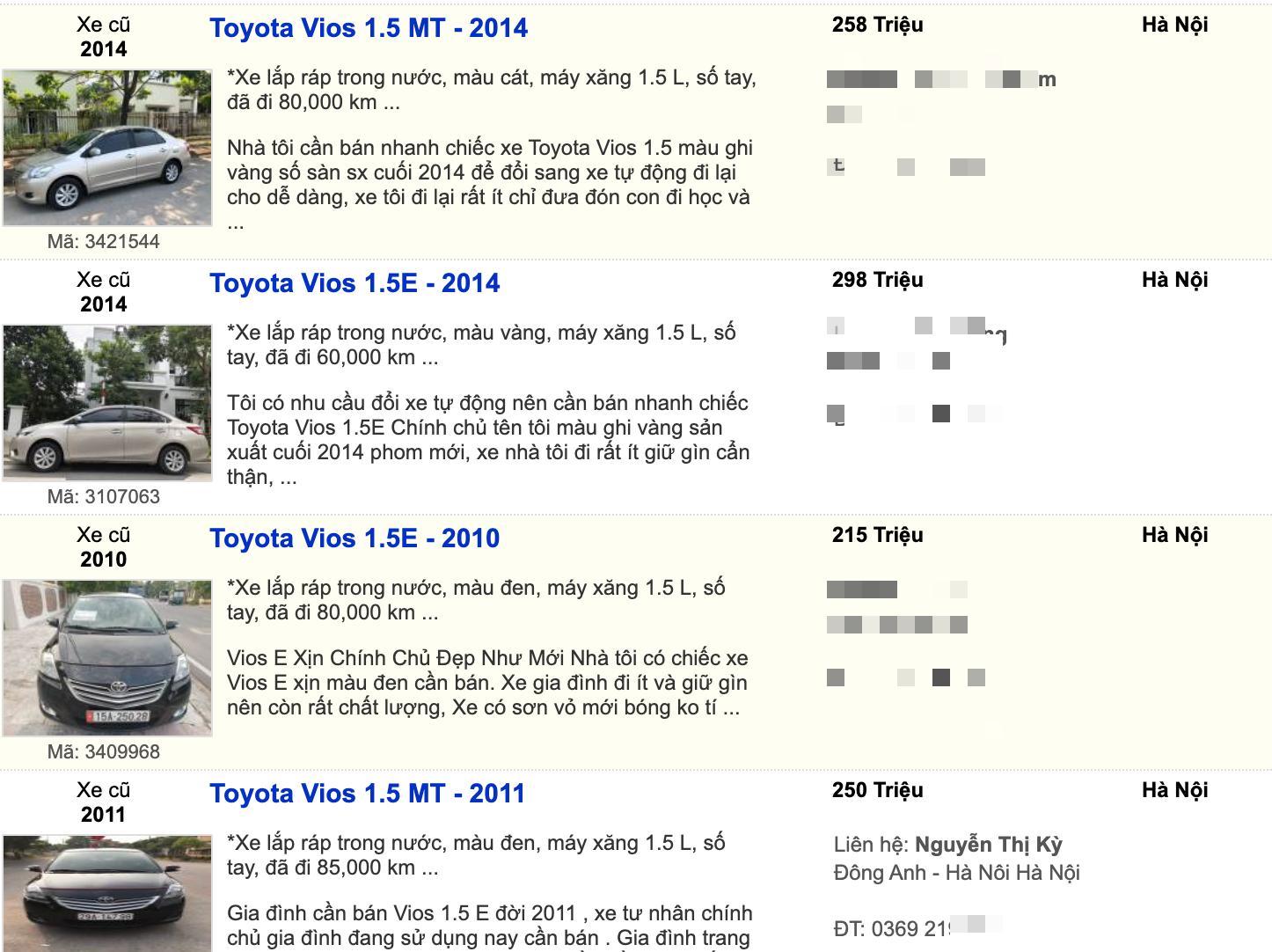 Toyota Vios sang xịn giá chỉ hơn 200 triệu đồng tại Việt Nam - Ảnh 1.