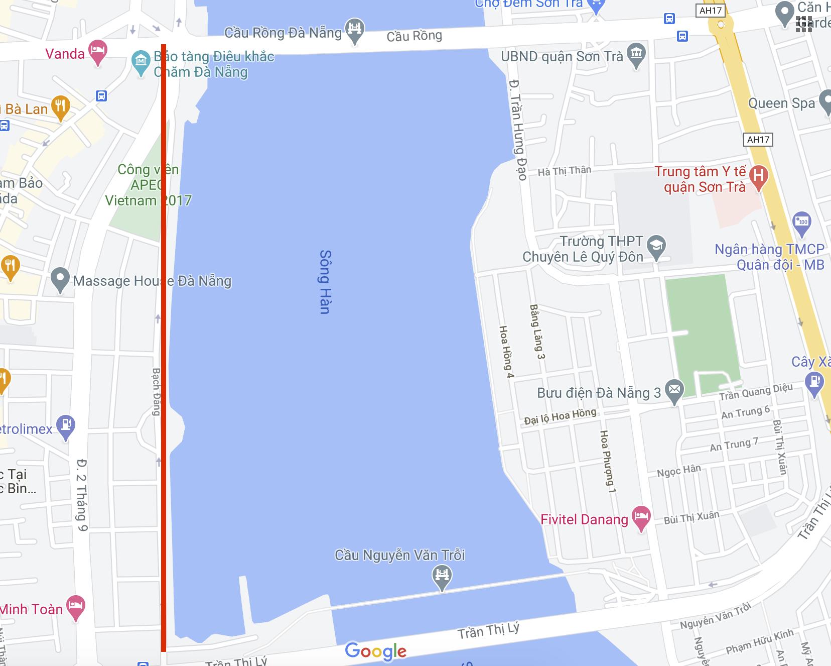 (Ảnh chụp màn hình: Google Map).