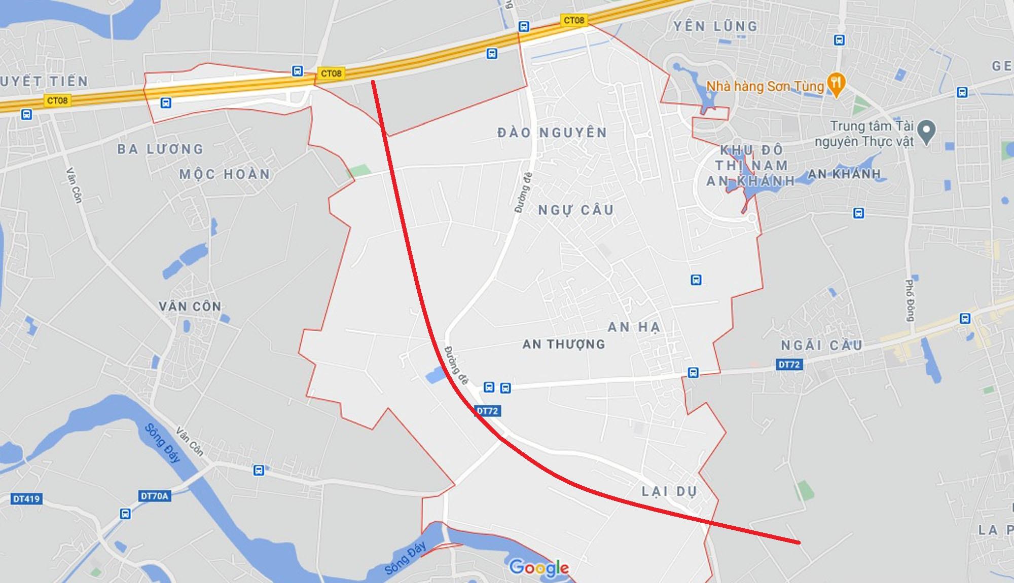 đường sẽ mở theo quy hoạch ở xã An Thượng, Hoài Đức, Hà Nội - Ảnh 2.