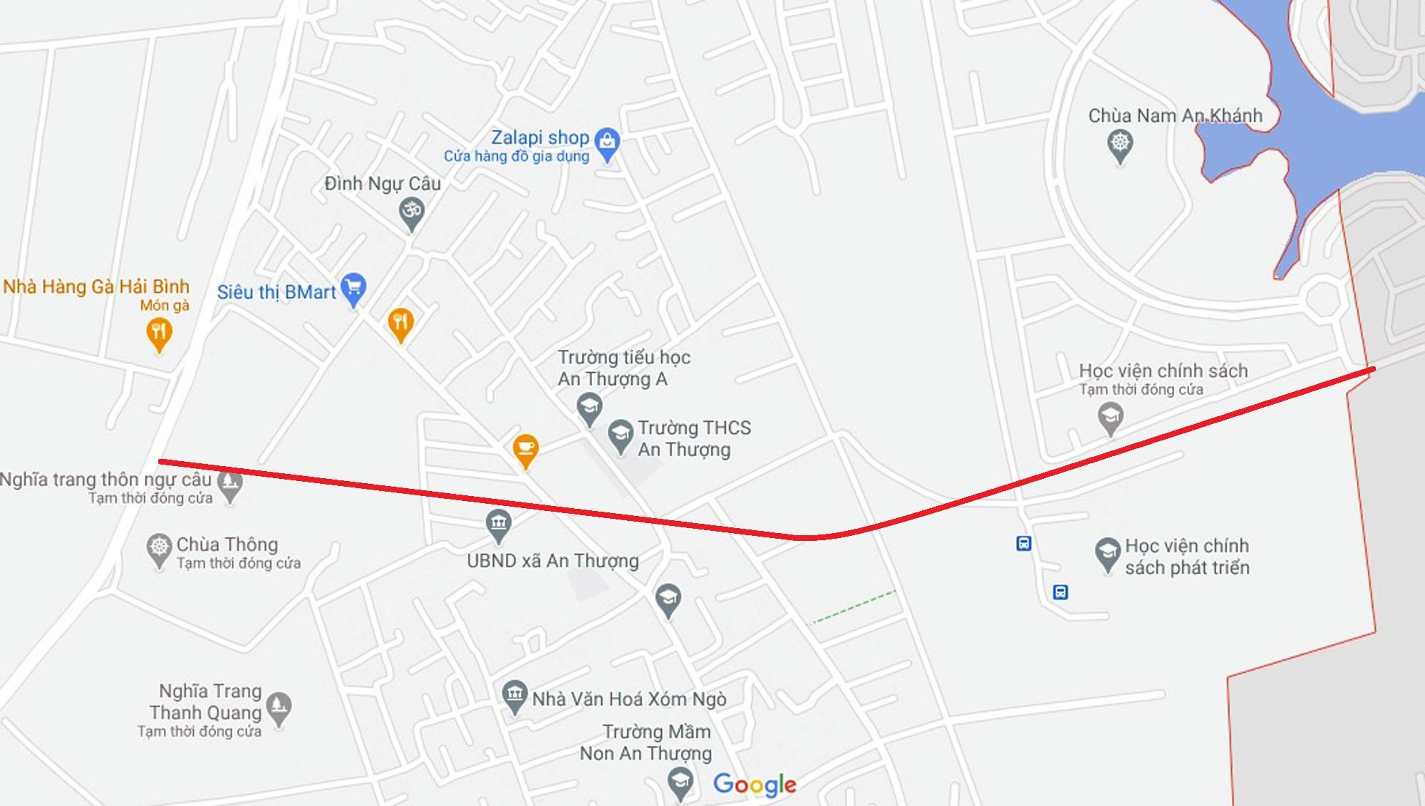 Ba đường sẽ mở theo quy hoạch ở xã An Thượng, Hoài Đức, Hà Nội - Ảnh 11.