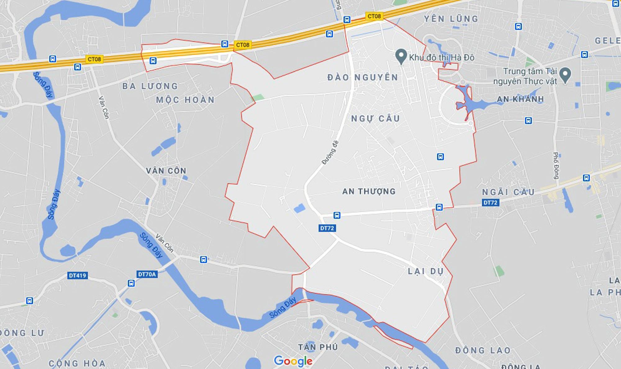 đường sẽ mở theo quy hoạch ở xã An Thượng, Hoài Đức, Hà Nội - Ảnh 1.