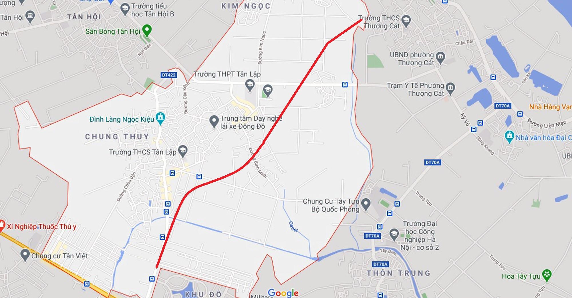 Ba đường sẽ mở theo qui hoạch ở xã Tân Lập, Đan Phượng, Hà Nội - Ảnh 2.