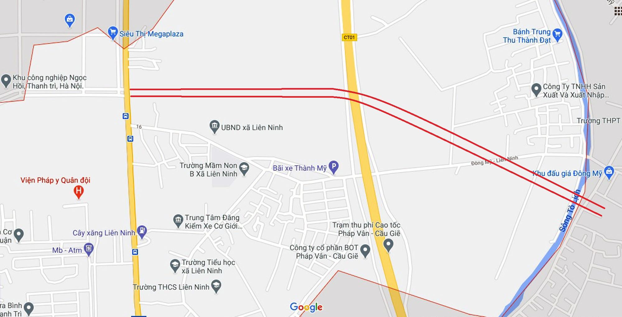 Ba đường sẽ mở theo quy hoạch ở xã Liên Ninh, Thanh Trì, Hà Nội - Ảnh 2.