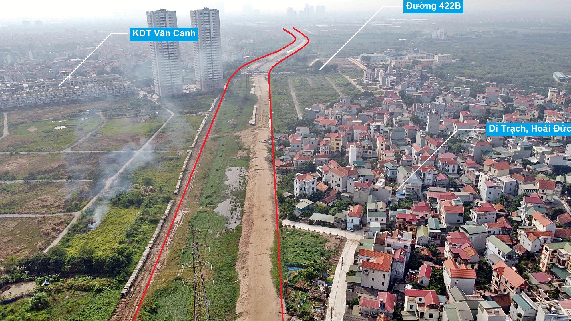 Toàn cảnh đường Vành đai 3,5 đang thi công qua huyện Hoài Đức, Hà Nội - Ảnh 10.