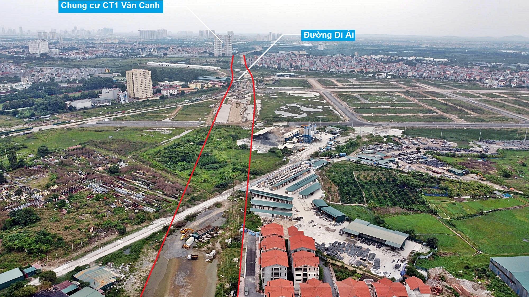 Toàn cảnh đường Vành đai 3,5 đang thi công qua huyện Hoài Đức, Hà Nội - Ảnh 12.