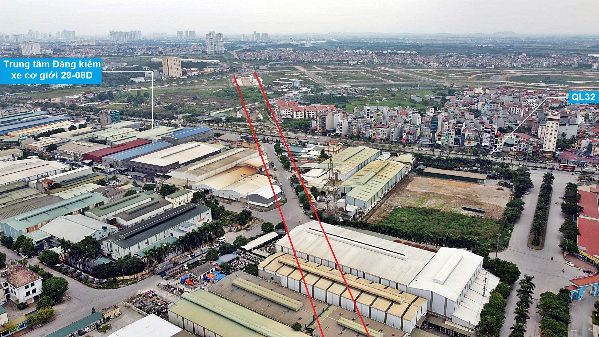 Toàn cảnh đường Vành đai 3,5 đang thi công qua huyện Hoài Đức, Hà Nội - Ảnh 13.