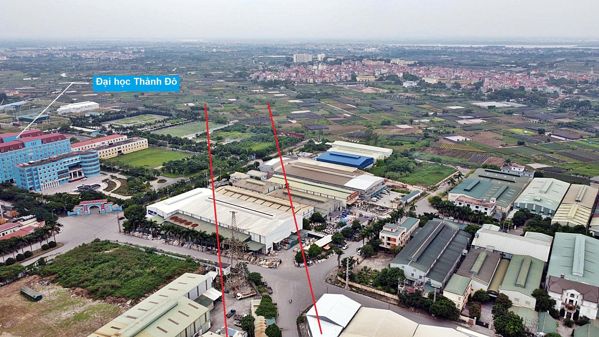 Toàn cảnh đường Vành đai 3,5 đang thi công qua huyện Hoài Đức, Hà Nội - Ảnh 14.