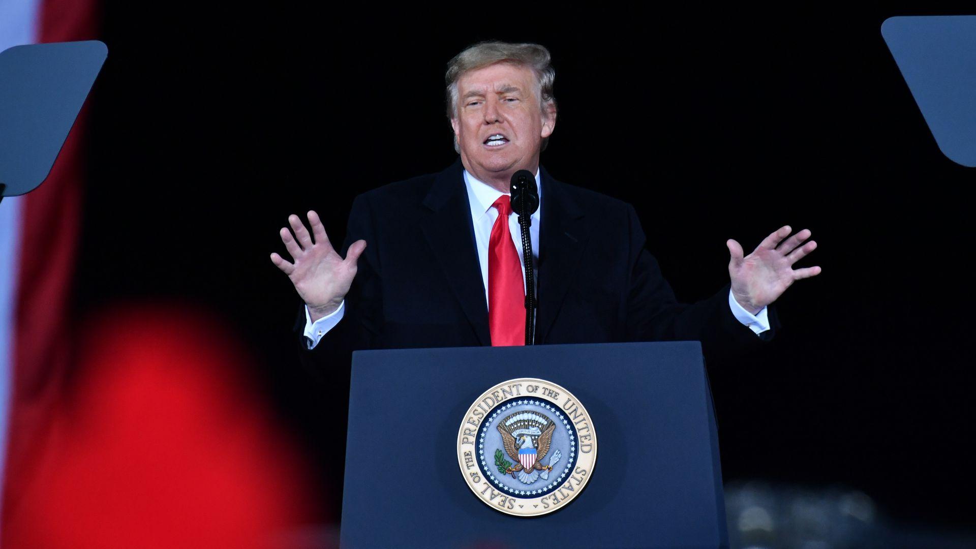 Ông Trump ban bố tình trạng khẩn cấp ở Washington, lệnh hỗ trợ cho lễ nhậm chức của ông Biden - Ảnh 1.