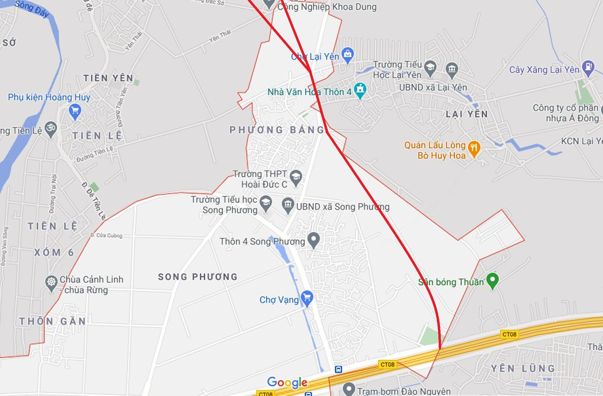 Ba đường sẽ mở theo quy hoạch ở xã Song Phương, Hoài Đức, Hà Nội - Ảnh 6.