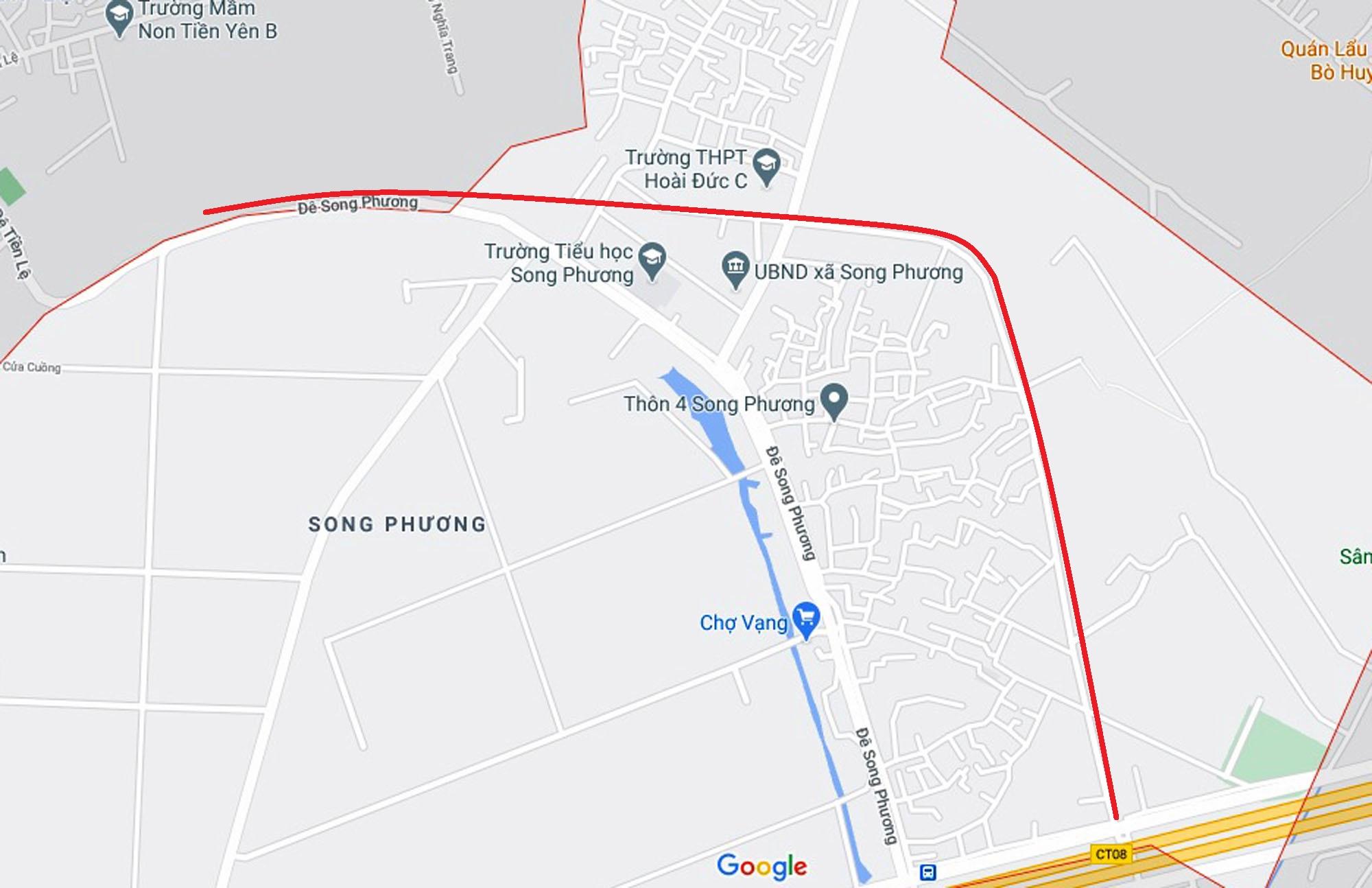 Ba đường sẽ mở theo quy hoạch ở xã Song Phương, Hoài Đức, Hà Nội - Ảnh 10.