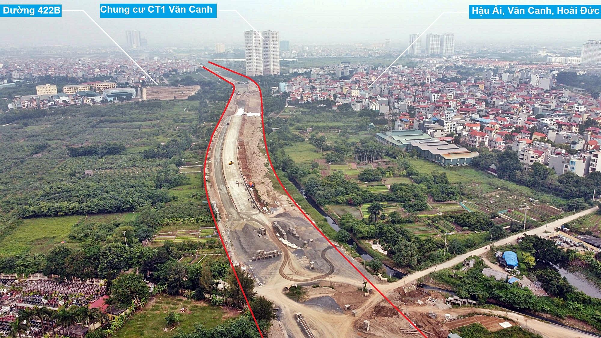 Toàn cảnh đường Vành đai 3,5 đang thi công qua huyện Hoài Đức, Hà Nội - Ảnh 8.