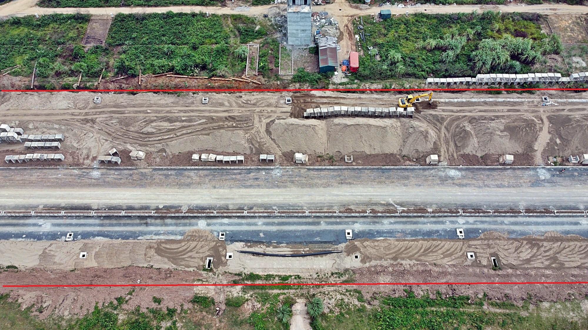 Toàn cảnh đường Vành đai 3,5 đang thi công qua huyện Hoài Đức, Hà Nội - Ảnh 9.