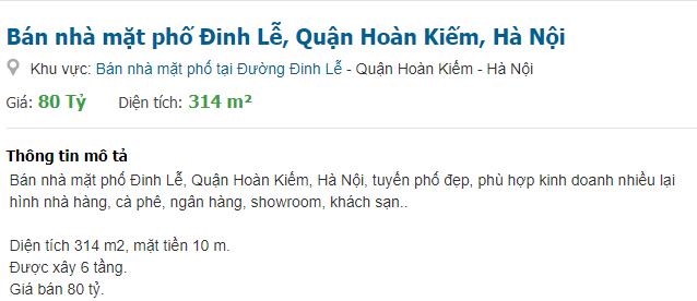Giá đất phố Đinh Lễ, Hoàn Kiếm, Hà Nội giai đoạn 2020 - 2024 - Ảnh 5.