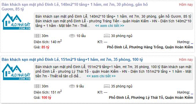 Giá đất phố Đinh Lễ, Hoàn Kiếm, Hà Nội giai đoạn 2020 - 2024 - Ảnh 4.