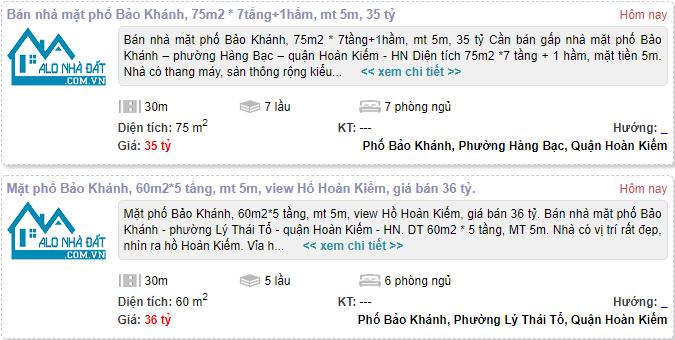 Giá đất phố Bảo Khánh, Hoàn Kiếm, Hà Nội giai đoạn 2020 - 2024 - Ảnh 2.