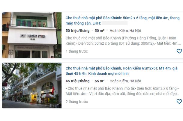 Giá đất phố Bảo Khánh, Hoàn Kiếm, Hà Nội giai đoạn 2020 - 2024 - Ảnh 5.