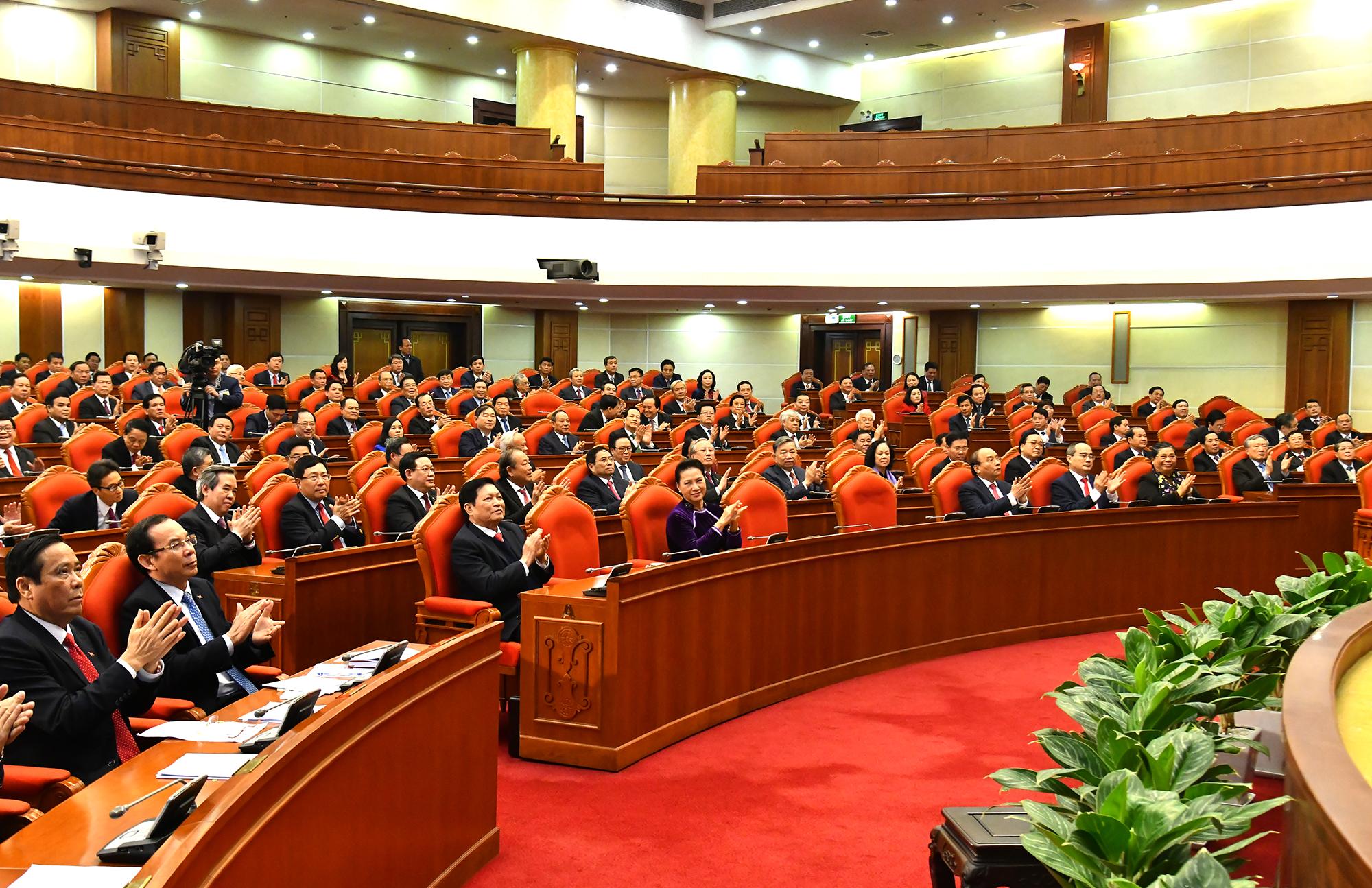 Bế mạc Hội nghị lần thứ 15 Ban Chấp hành Trung ương Đảng khóa XII. Ảnh VGP