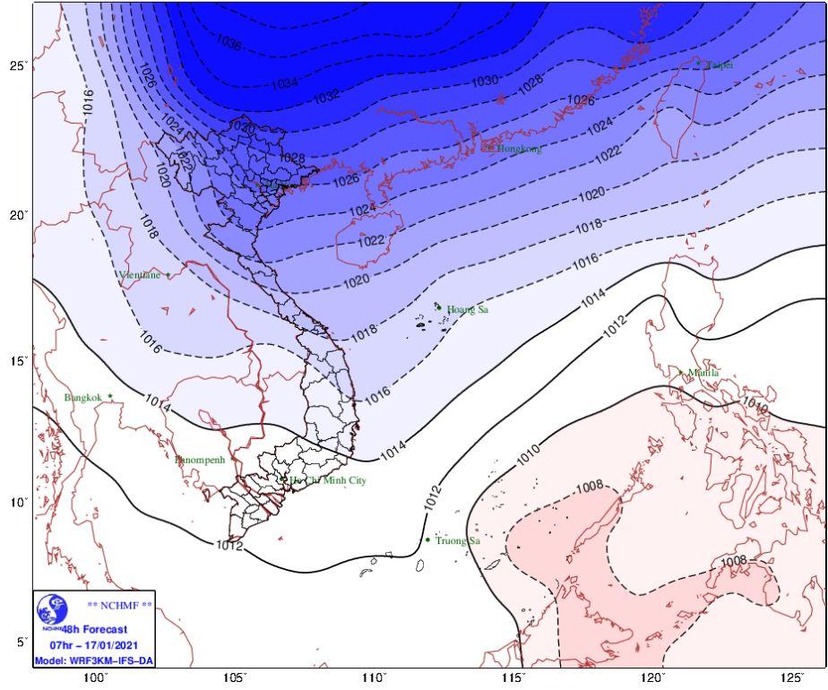 Thời tiết Hà Nội hôm nay 17/1: Không khí lạnh tăng cường mạnh gây rét đậm, rét hại và mưa - Ảnh 1.