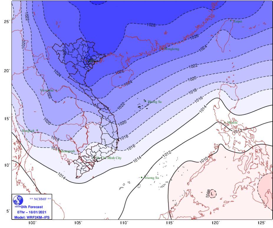 Thời tiết Hà Nội hôm nay 18/1: Tiếp tục rét đậm rét hại, Hải Phòng đêm rét xuống 10 độ - Ảnh 1.