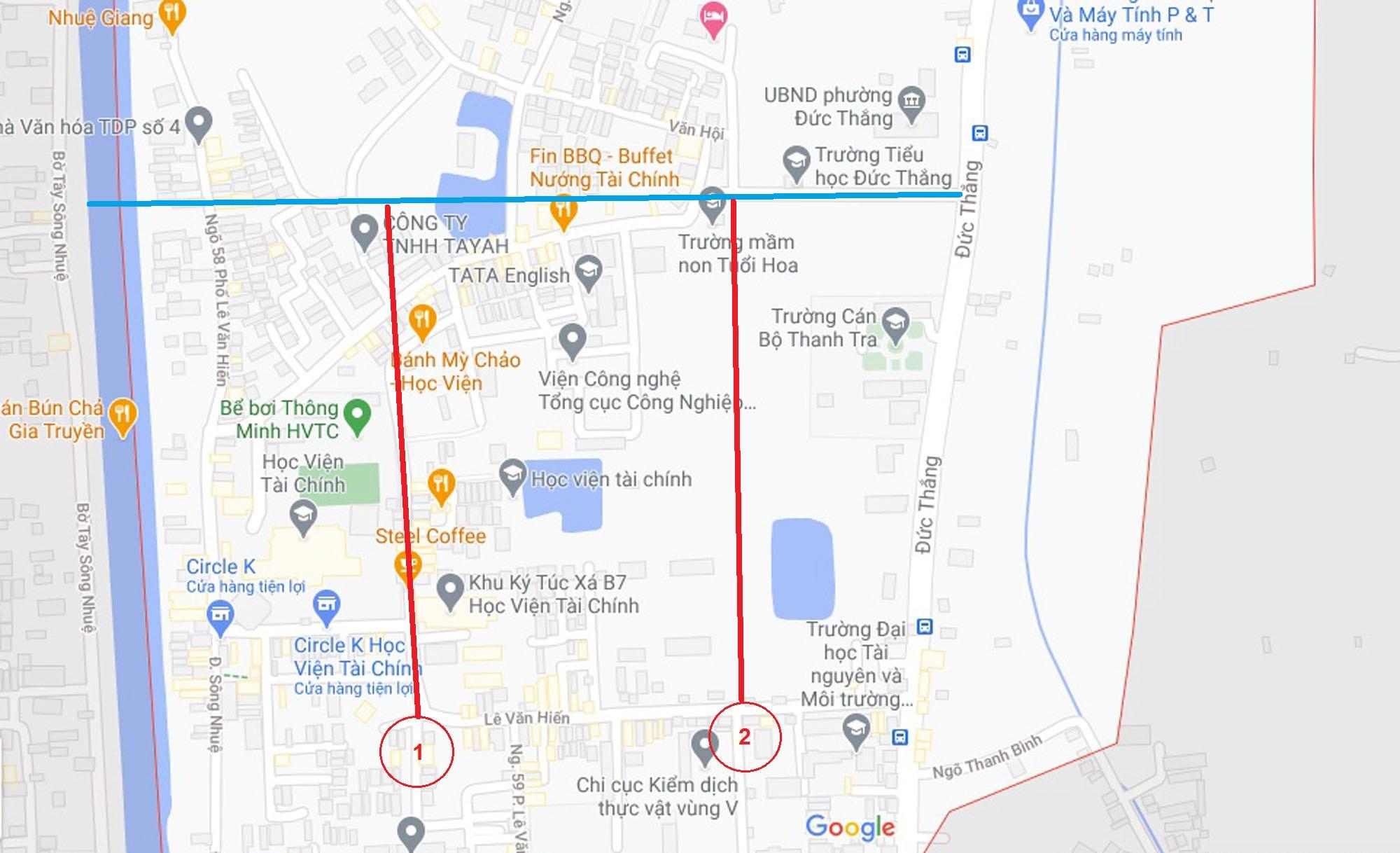 Ba đường sẽ mở theo qui hoạch ở phường Đức Thắng, Bắc Từ Liêm, Hà Nội (phần 2) - Ảnh 6.