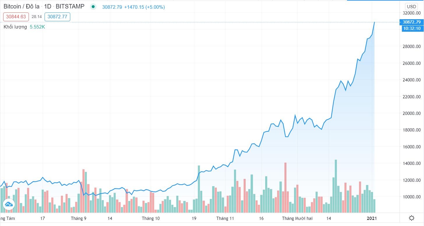 Bitcoin vượt mốc 30.000 USD - Ảnh 2.