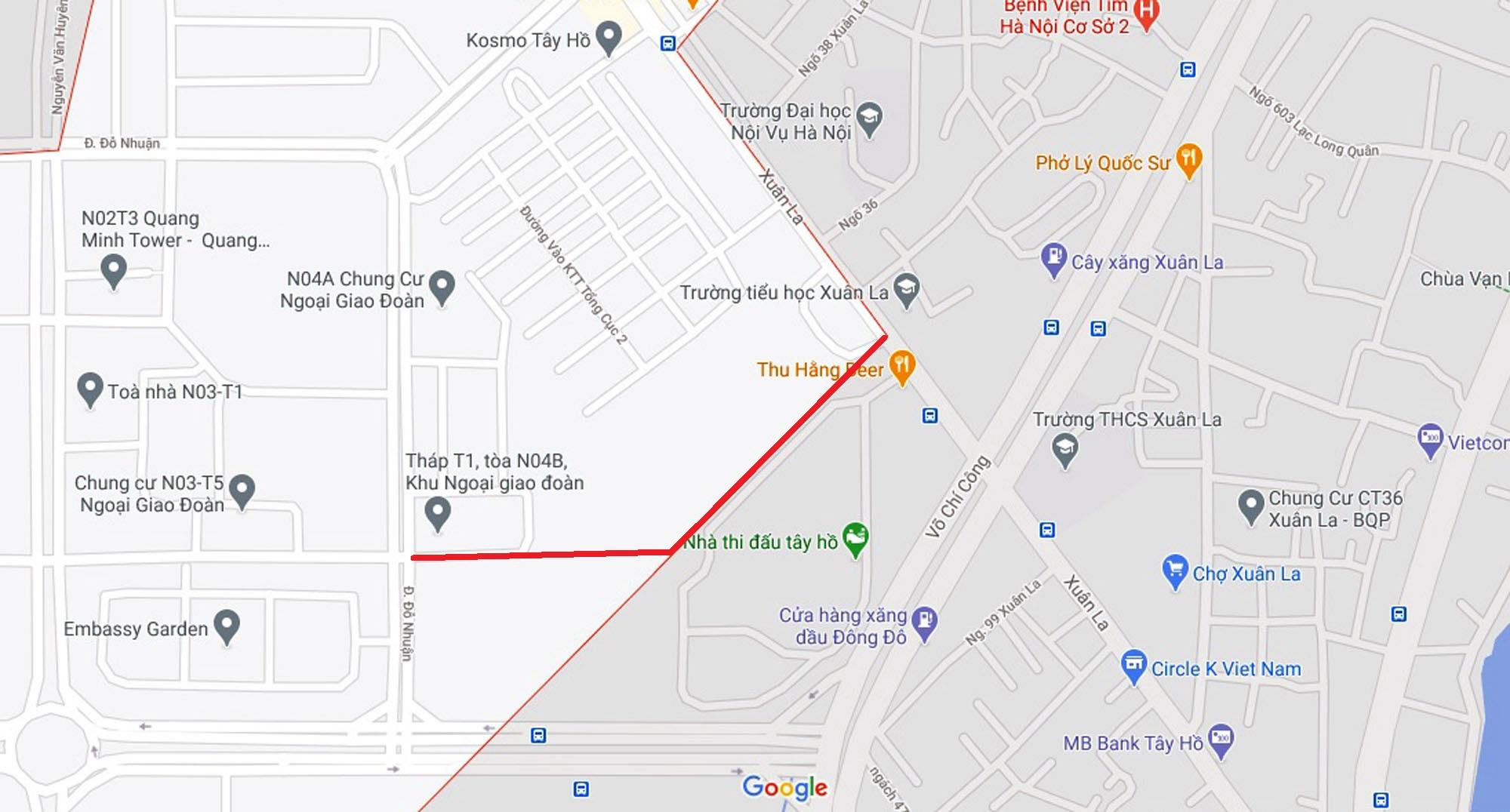 Ba đường sẽ mở theo qui hoạch ở phường Xuân Tảo, Bắc Từ Liêm, Hà Nội (phần 2) - Ảnh 6.
