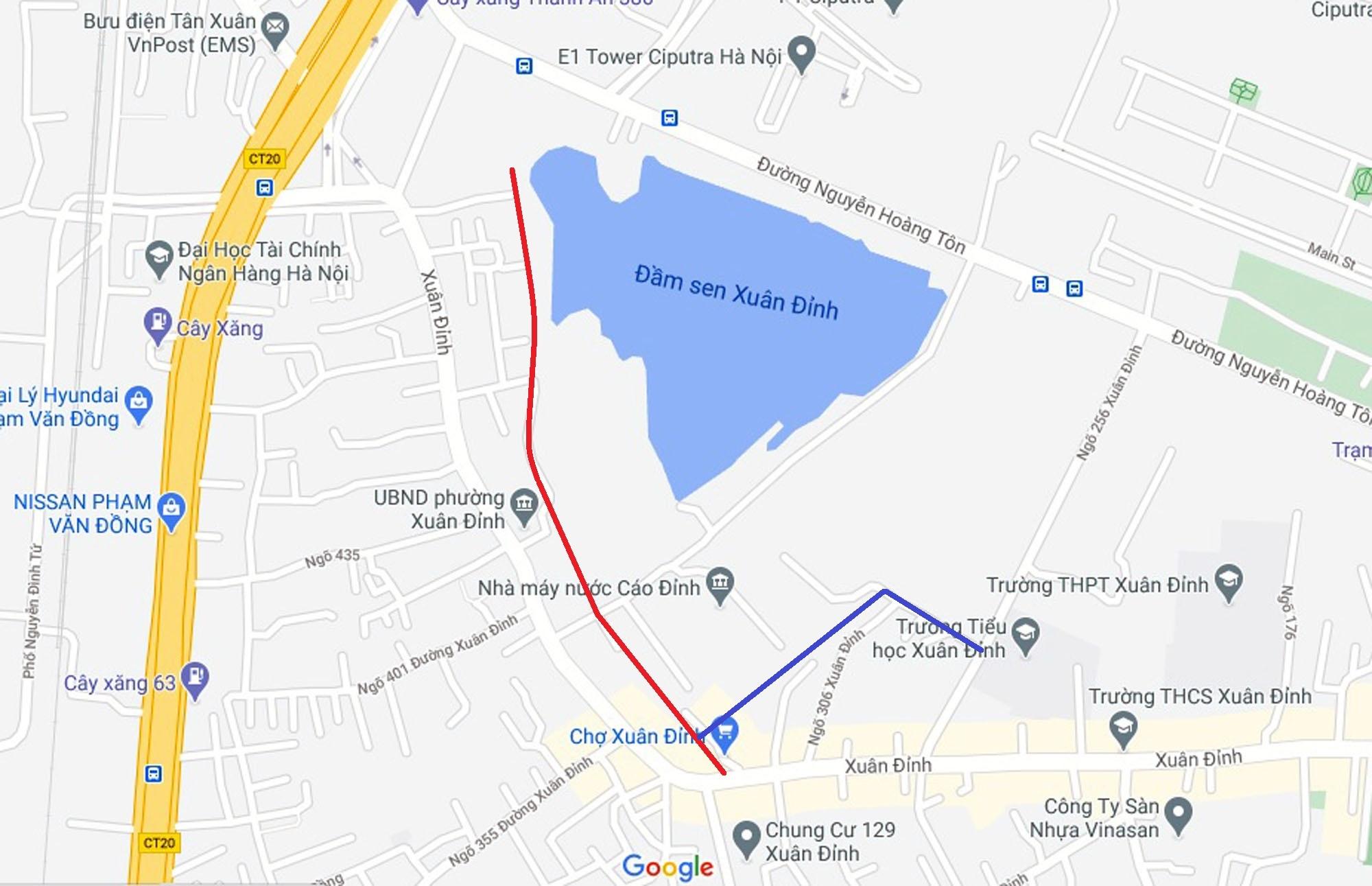 Ba đường sẽ mở theo qui hoạch ở phường Xuân Đỉnh, Bắc Từ Liêm, Hà Nội (phần 2) - Ảnh 11.