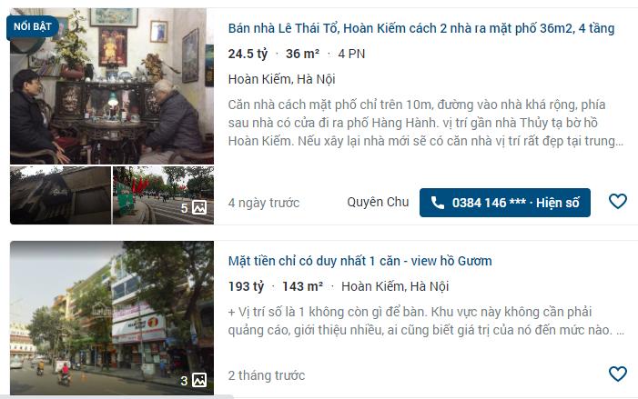 Giá đất phố Lê Thái Tổ, Hoàn Kiếm, Hà Nội - Ảnh 3.