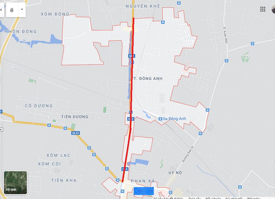 Giá đất Quốc lộ 3, Thị trấn Đông Anh, Hà Nội - Ảnh 1.