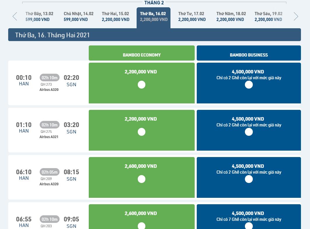 Giá vé máy bay sau Tết 2021 có nhiều chênh lệch, một số đường bay đã hết vé - Ảnh 2.