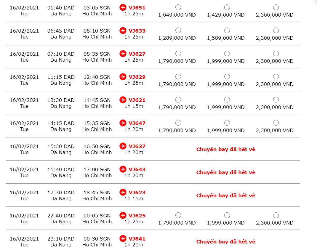 Giá vé máy bay sau Tết 2021 có nhiều chênh lệch, một số đường bay đã hết vé - Ảnh 4.