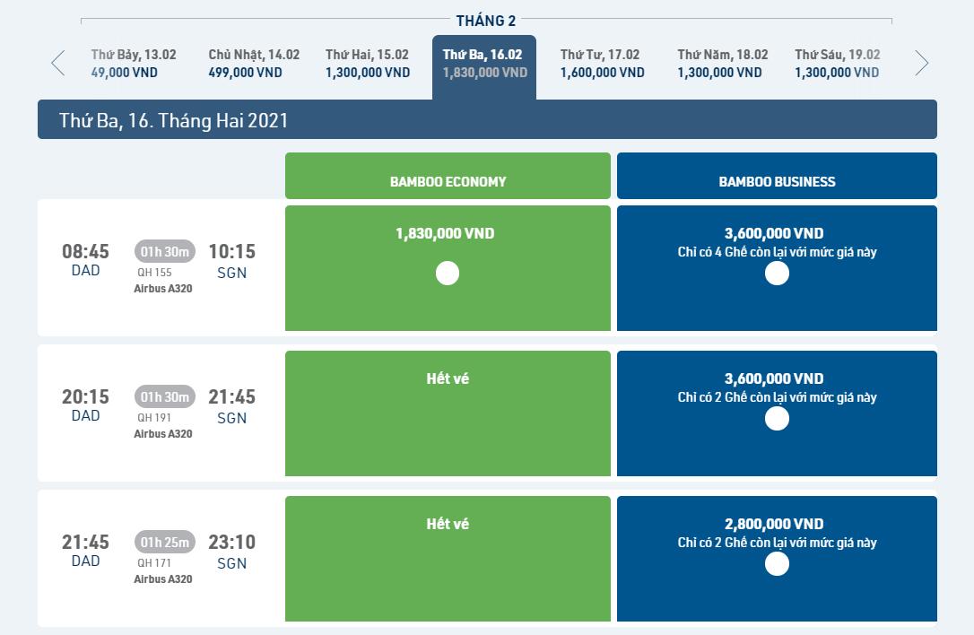 Giá vé máy bay sau Tết 2021 có nhiều chênh lệch, một số đường bay đã hết vé - Ảnh 5.