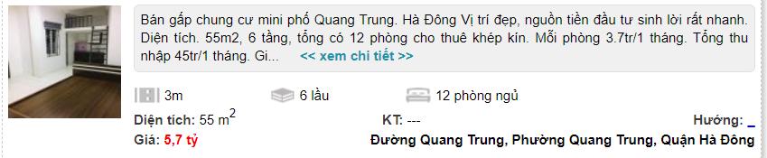 Giá đất đường Quang Trung, Hà Đông, Hà Nội: Cao nhất hơn 21 triệu đồng/m2 - Ảnh 2.