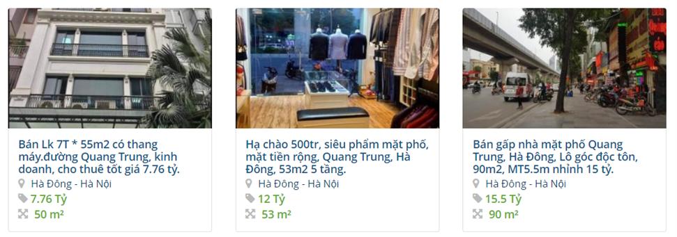 Giá đất đường Quang Trung, Hà Đông, Hà Nội: Cao nhất hơn 21 triệu đồng/m2 - Ảnh 4.