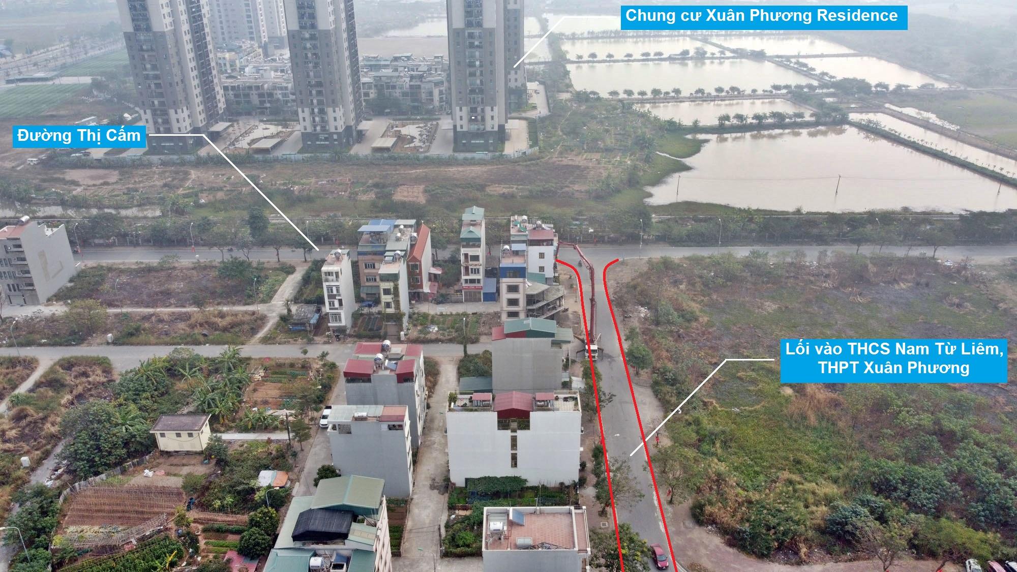 Ba đường sẽ mở theo qui hoạch ở phường Xuân Phương, Nam Từ Liêm, Hà Nội (phần 2) - Ảnh 3.