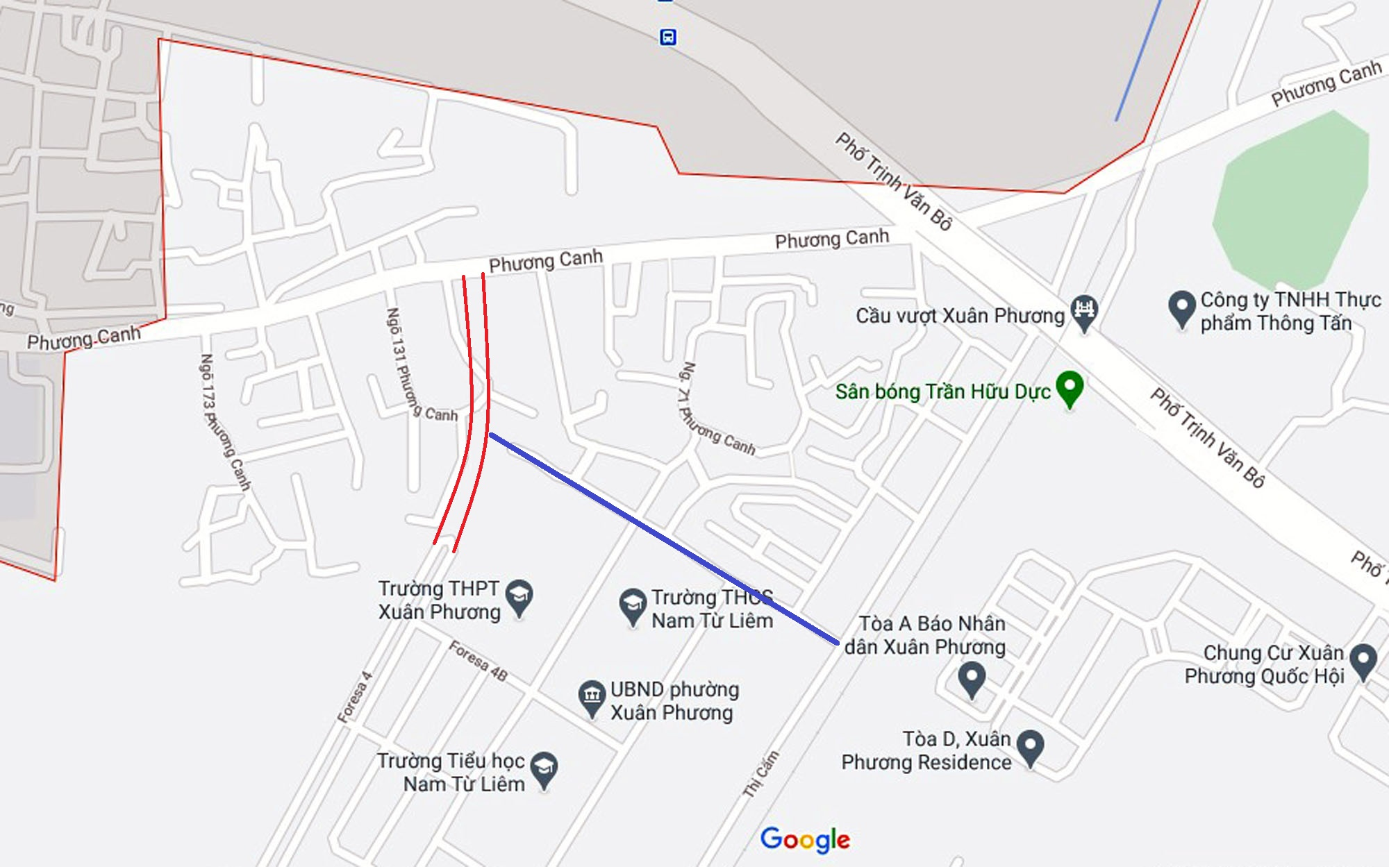 Ba đường sẽ mở theo qui hoạch ở phường Xuân Phương, Nam Từ Liêm, Hà Nội (phần 2) - Ảnh 2.