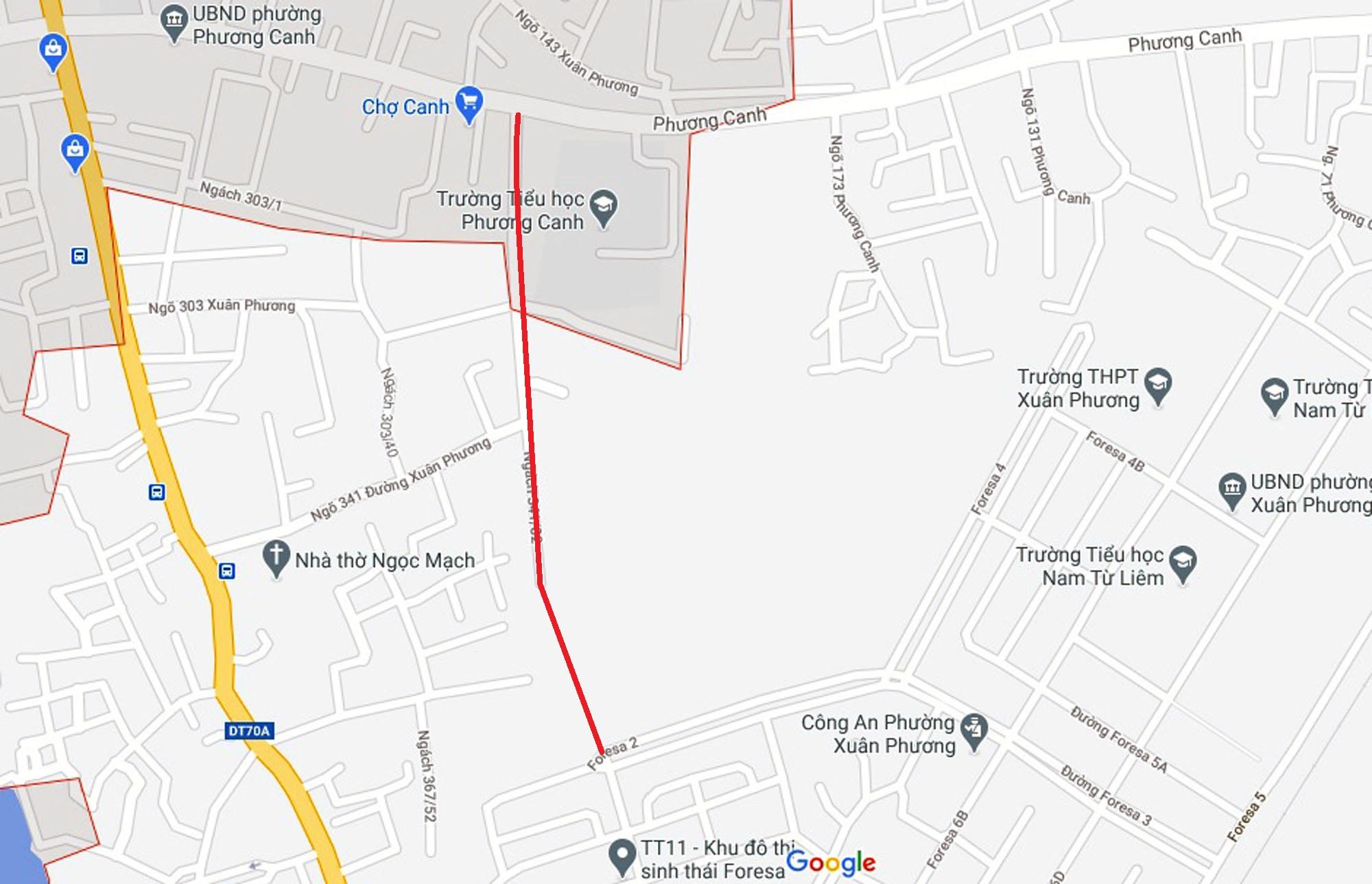 Ba đường sẽ mở theo qui hoạch ở phường Xuân Phương, Nam Từ Liêm, Hà Nội (phần 2) - Ảnh 13.