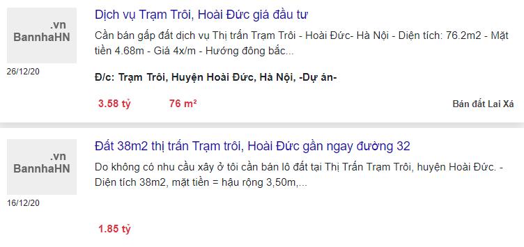 Giá đất Quốc lộ 32, thị trấn Trạm Trôi, Hoài Đức, Hà Nội - Ảnh 3.