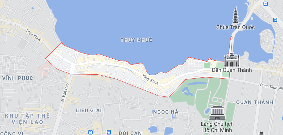 Ba khu đất dính quy hoạch tại phường Thụy Khuê, quận Tây Hồ, Hà Nội - Ảnh 1.