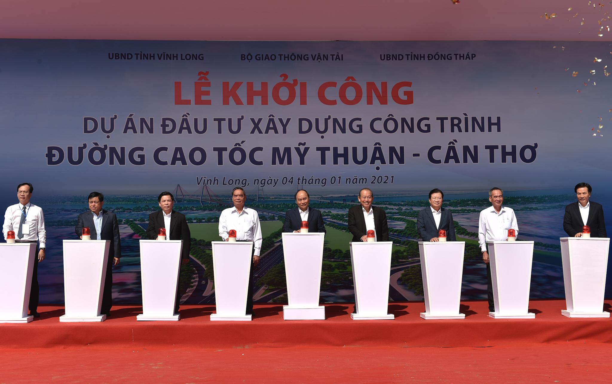 Cao tốc Mỹ Thuận - Cần Thơ đáp ứng nhu cầu 20 triệu dân chính thức khởi công - Ảnh 2.