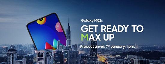 Samsung Galaxy M02s màn hình 6.5 inch, pin 5000 mAh sẽ ra mắt vào ngày 7/1 - Ảnh 1.