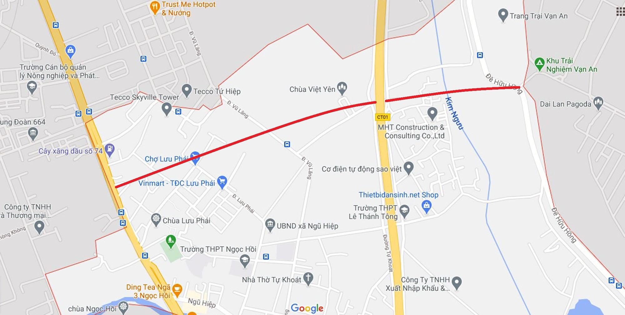 đường sẽ mở theo quy hoạch ở xã Ngũ Hiệp, Thanh Trì, Hà Nội - Ảnh 2.