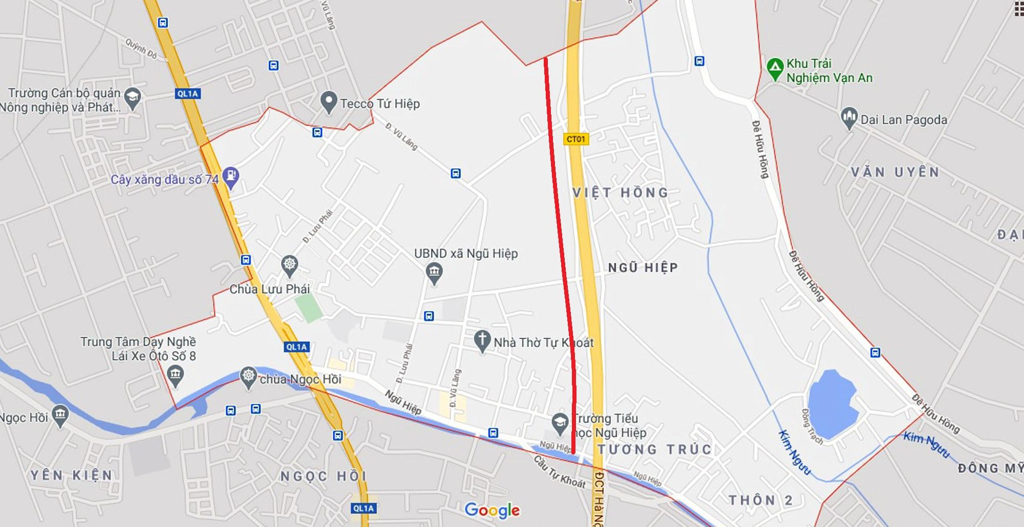 đường sẽ mở theo quy hoạch ở xã Ngũ Hiệp, Thanh Trì, Hà Nội - Ảnh 7.